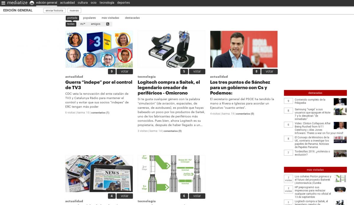 Nace el agregador social de noticias Mediatize